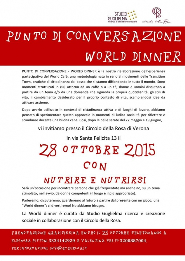Punto di Conversazione: World Dinner